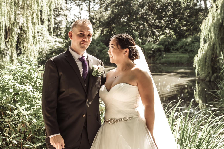 Brudeparrets lykkelige øjeblik