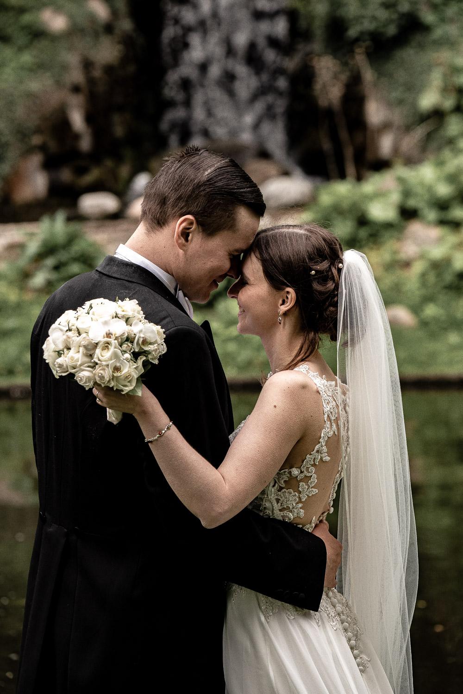 Romantisk bryllupsbillede