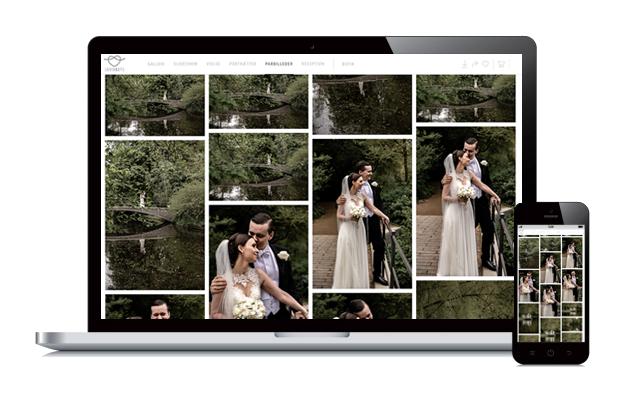 Online galleri til bryllupsbilleder