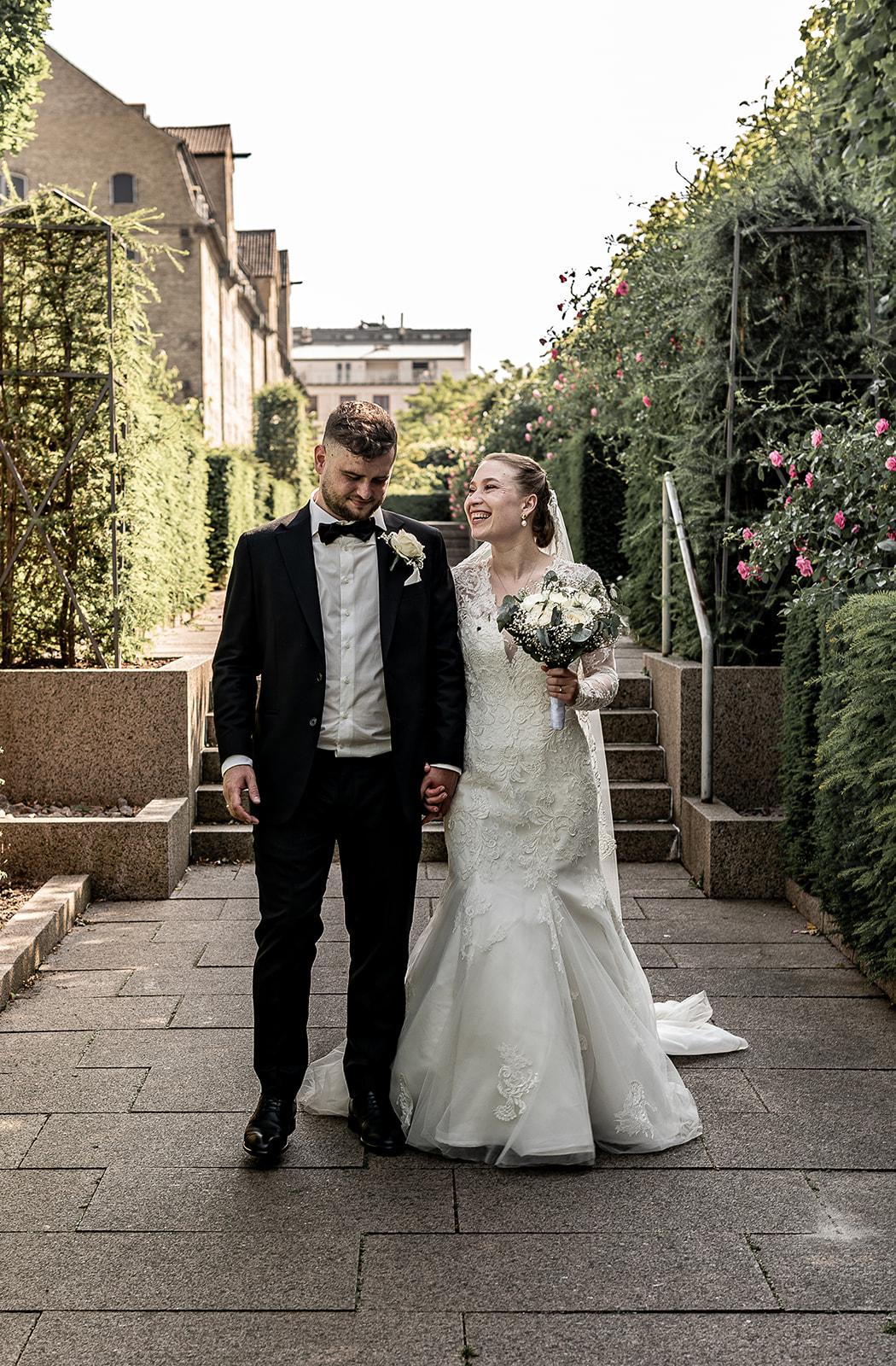 Bryllupsfoto i Amaliehaven, København